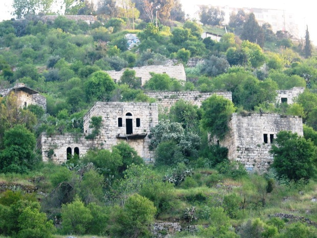 The ruins of Lifta, a Palestinian village near Jerusalem (photo: Ester Inbar)