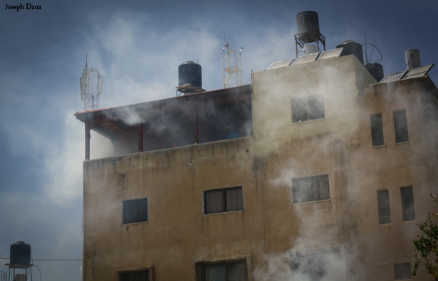 Civilian house in Nabi Saleh after being tear gassed by Israeli soldiers Photo: Joseph Dana
