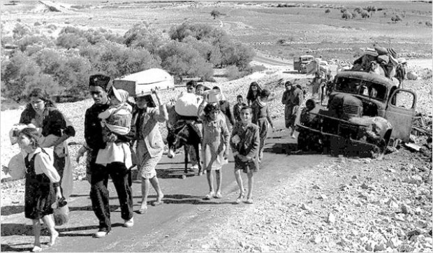 Palestinian refugees in 1948 (photo: wikimedia, Israeli copyrights expired)