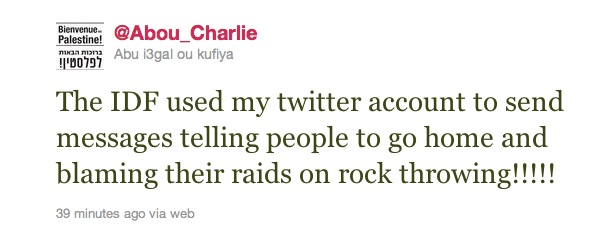 Report: Israeli soldier tweets from detained protester's phone