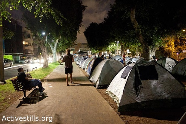 Tent city protest: It's politics, but not as usual