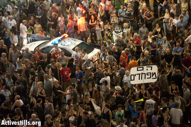"""They are afraid""  Tel Aviv, August 6 (photo: ActiveStills)"