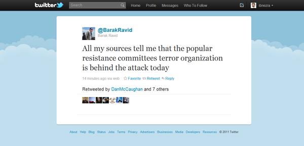Screenshot of Barak Ravid's twitter feed