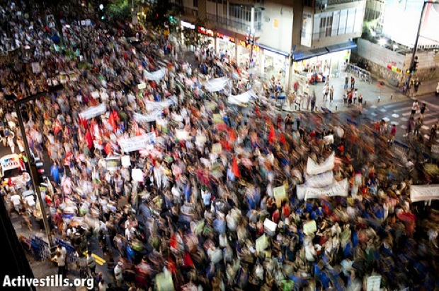 One of the tent protests, Tel Aviv (photo: Activestills)