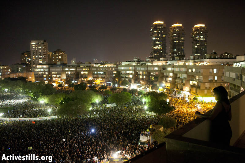 Over 400,000 in largest protest in Israeli history