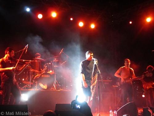 Mashrou3 Leila in concert, Amman, August 2011. Photo by Mati Milstein.