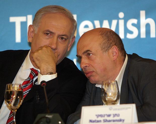 Netanyahu and Sharansky, February 2010 (photo: Jewish Agency/flickr cc)