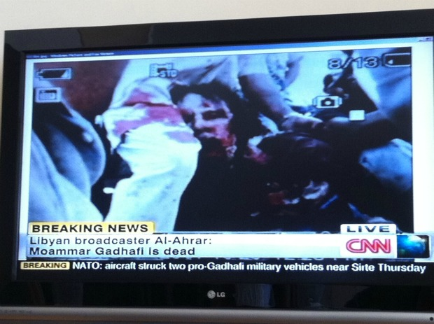 Covering the media that's covering Gaddafi