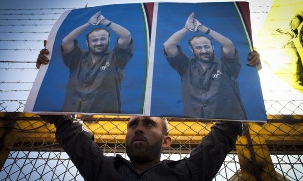 Palestinian demonstration for the release of prisoners, Ofer military prison (photo: Activestills)