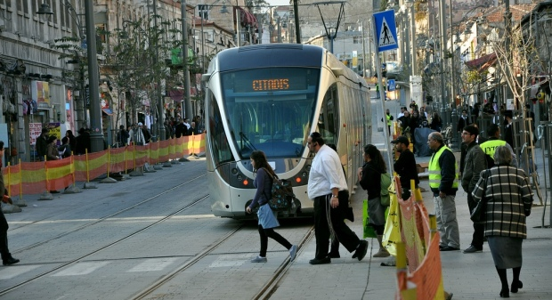 'Scuffles' between Israelis, Palestinians on Jerusalem's light rail