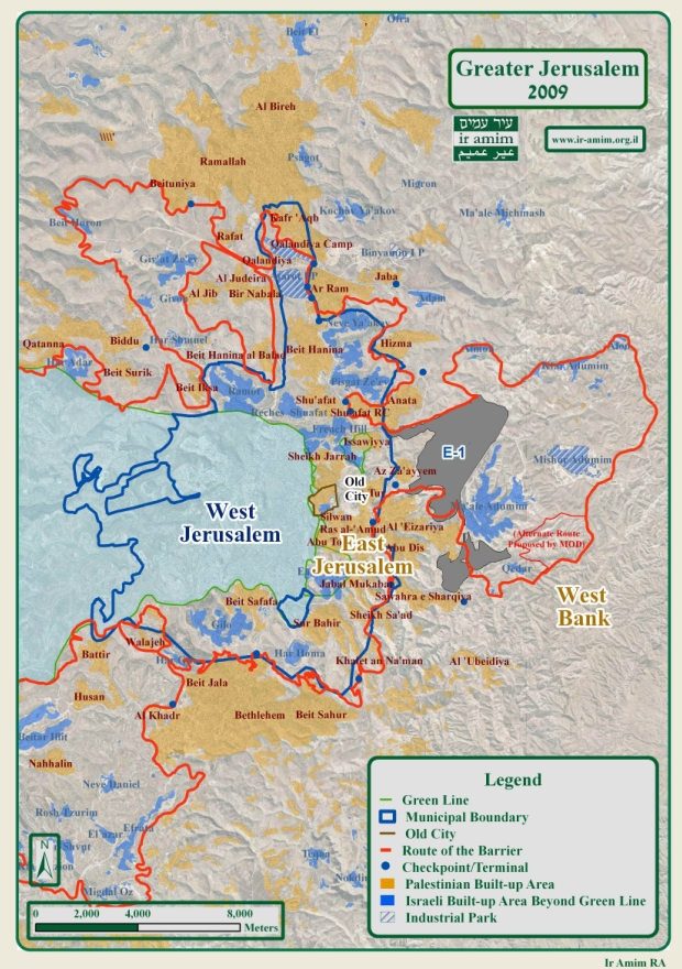 J'lem construction in next decades – mostly on occupied territory