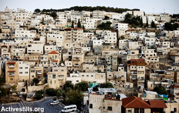 Palestinian neighborhood Silwan, East Jerusalem (photo: activestills.org)
