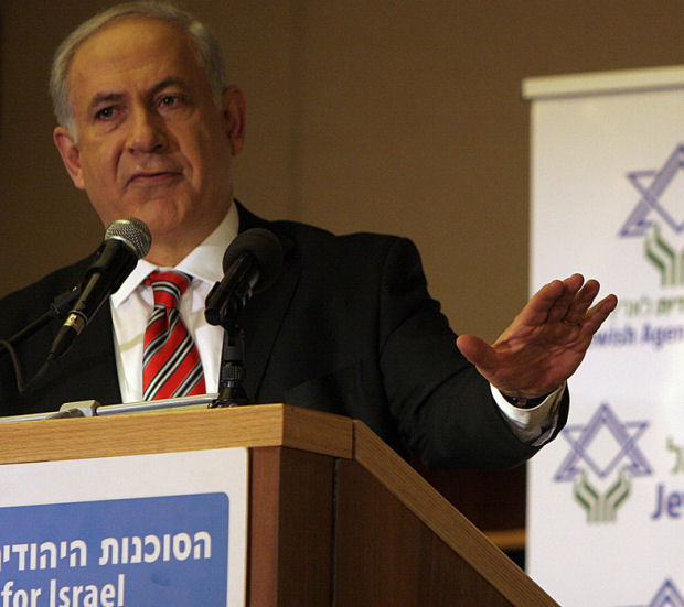 Leading the struggle against Israeli democracy. Netanyahu speaking to the Jewish Agency. (Photo: Jewish Agency for Israel, cc by-nd 2.0)