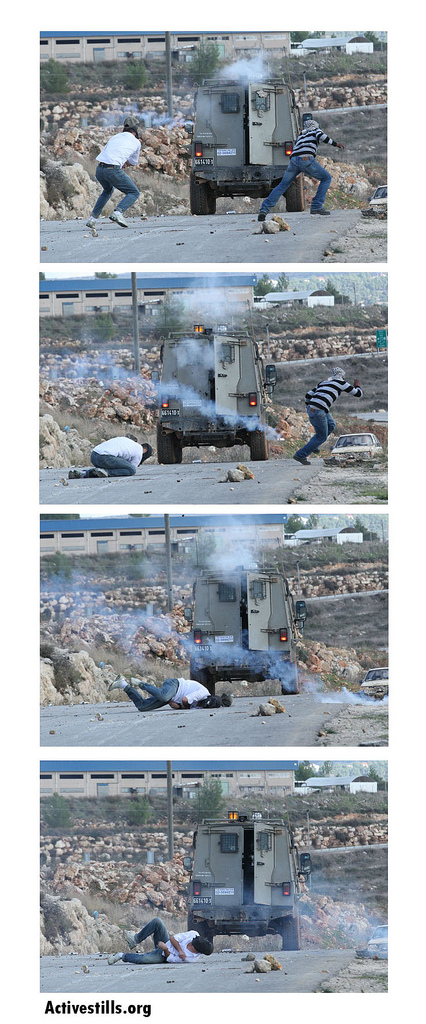 IMAGE: Unarmed protester shot to death by IDF