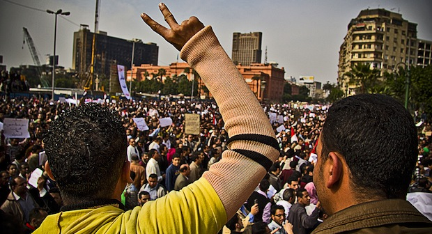 Anti-government demonstration in Cairo, February (photo: flickr / darkroom productions)