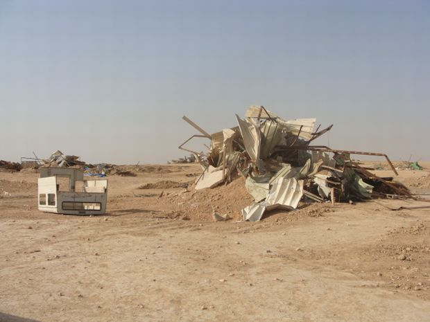 Bedouin village Al Arakib after demolition in September 2010 (photo: Mya Guarnieri)