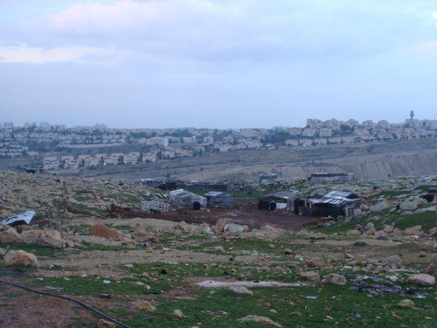 Jabal al Baba (Ras al Baba) with Maale Adumim in background (photo: Mya Guarnieri)