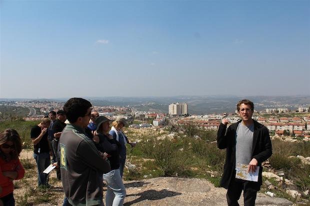 Peace Now settlement tour showing Ariel (Photo: Tal Goldman)