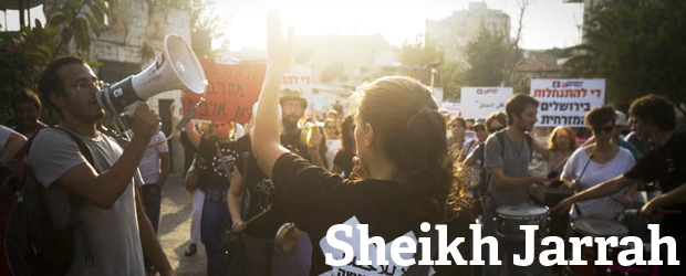 Sheikh Jarrah header (photo: ActiveStills, design: Idit Frenkel)