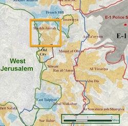 Sheikh Jarrah map (Ir Amim)