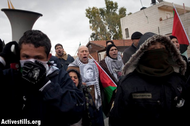 Nabi Saleh demonstration in solidarity with Haba Shalabi (Oren Ziv / Activestills)