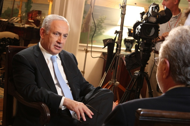 More than any other politician, Prime Minister Benjamin Nentanyahu (Seen talking to CNN's Wolf Blitzer) represents the Israeli outlook that the current situation is the best (photo: IsraelinUS/flickr CC by-2.0)