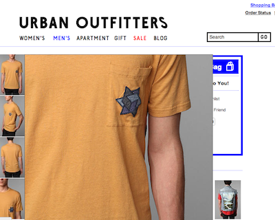 Urban Outfitters' yellow tee causes stir over Holocaust association