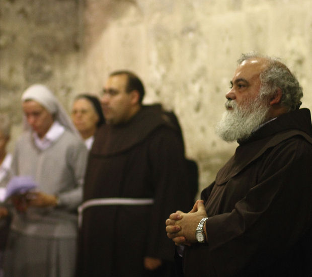 Christian clergy in Jerusalem are often spat at by yeshiva boys (Photo: Yossi Gurvitz)