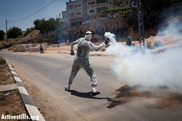 IMAGES: Protesters, IDF clash on Nakba Day at Ofer prison
