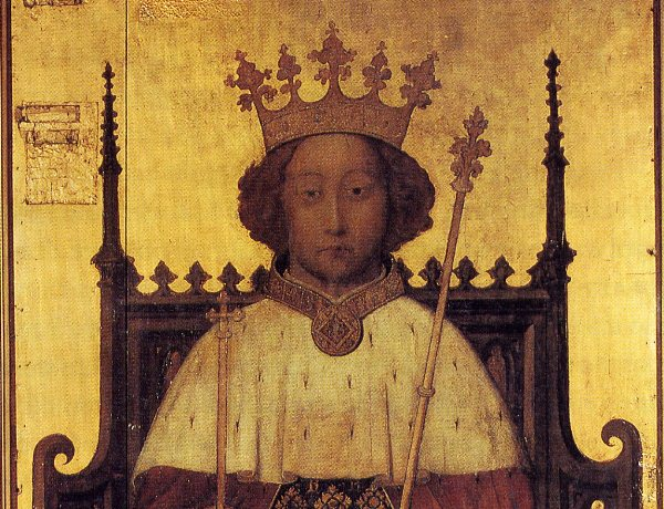 Richard II of England, a portrait from the 1380s (image: Wikimedia Commons)