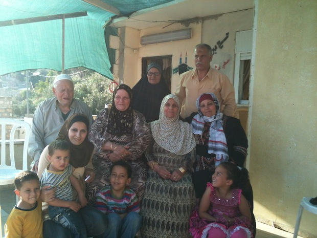 The Ruweide family outside their home in Silwan May 9, 2012 (Photo: Moriel Rothman)