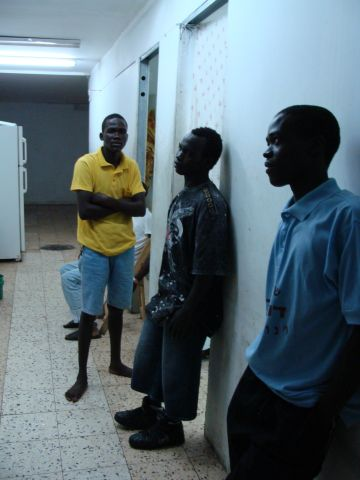 Unaccompanied minors from Sudan at a shelter in south Tel Aviv in 2008. Abraham Alu fled South Sudan, alone, when he was just seven years old. (photo: Mya Guarnieri)