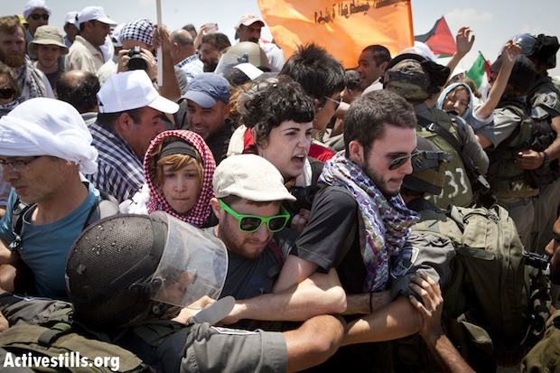 Hundreds protest plan to demolish entire Palestinian village