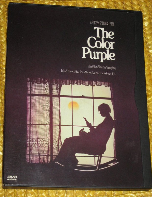 "DVD cover of the film ""The Color Purple,"" directed by Steven Spielberg and written by Palestinian rights activist and author Alice Walker (flickr/cc: elycefeliz)"