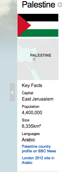 According to BBC, Israel has no capital - but Palestine does