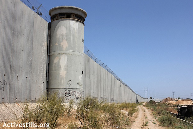 The West Bank separation barrier. (Photo by Activestills)