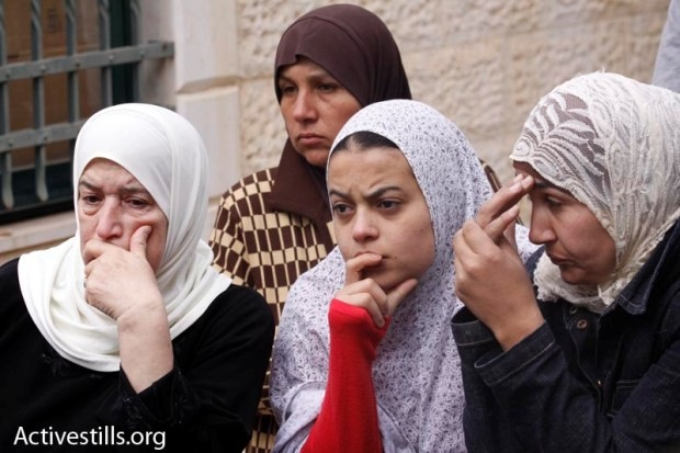 The al-Kurd family seen after its eviction from their home in Sheikh Jarrah, March 11, 2009. (Activestills)