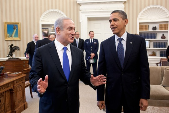 File photo of Prime Minister Netanyahu and President Obama in the Oval Office, March 2012 (White House photo)