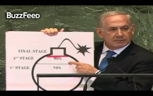 Bibi and the bomb: Buffoonery or clever tactics at the UN?