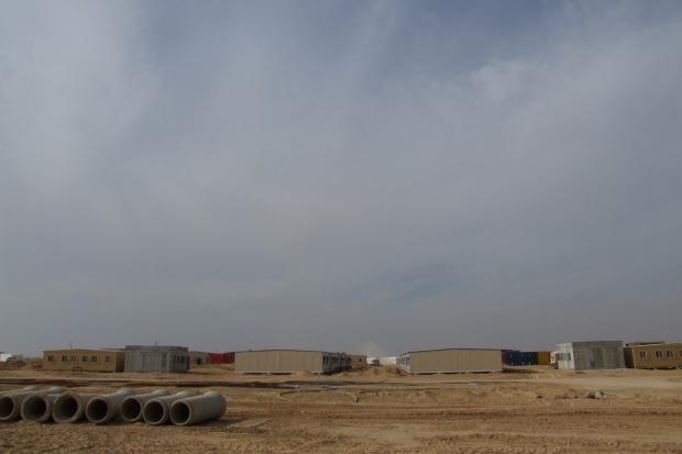 Sadot prison (under construction). (photo: Noam Sheizaf)