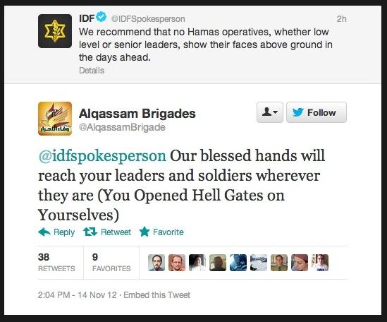 IDF, Hamas exchange Twitter threats