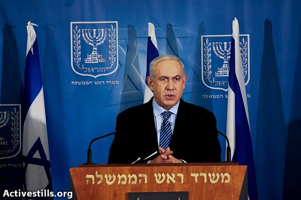 Prime Minister Binyamin Netanyahu (photo: Yotam Ronen / Activestills.org)