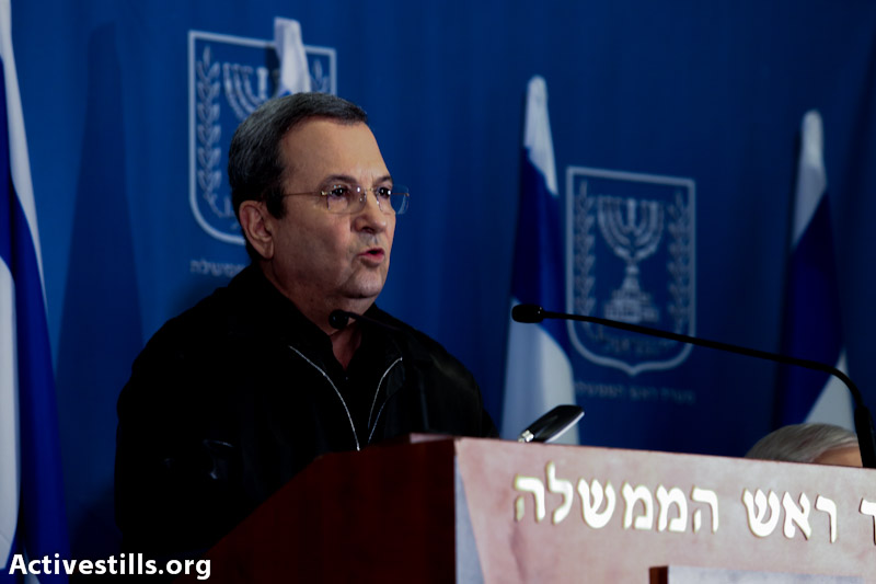 Ehud Barak (photo: Yotam Ronen / Activestills.org)
