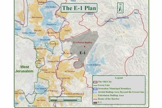 E1 area in West Bank (Courtesy of Ir Amim)