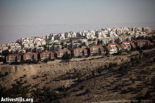 Maale Adumim settlement near east of Jerusalem (Activestills.org)