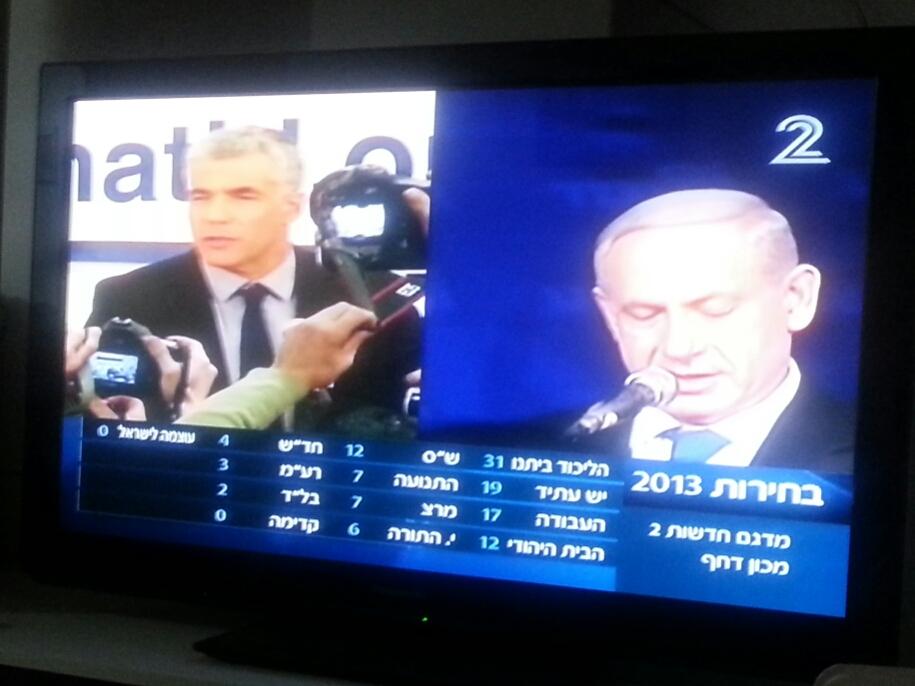 Lapid (left) and Bibi (right). photo: Ami Kaufman