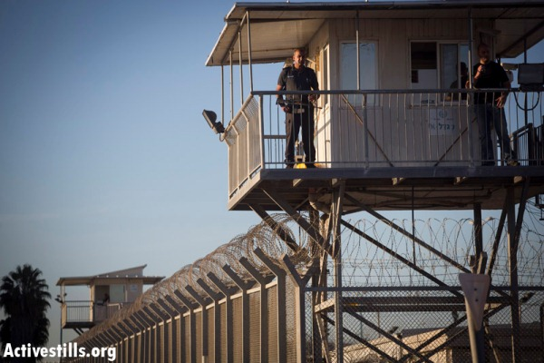 Israel's Ayalon prison facility, inside the Green Line. (File photo by Activestills)