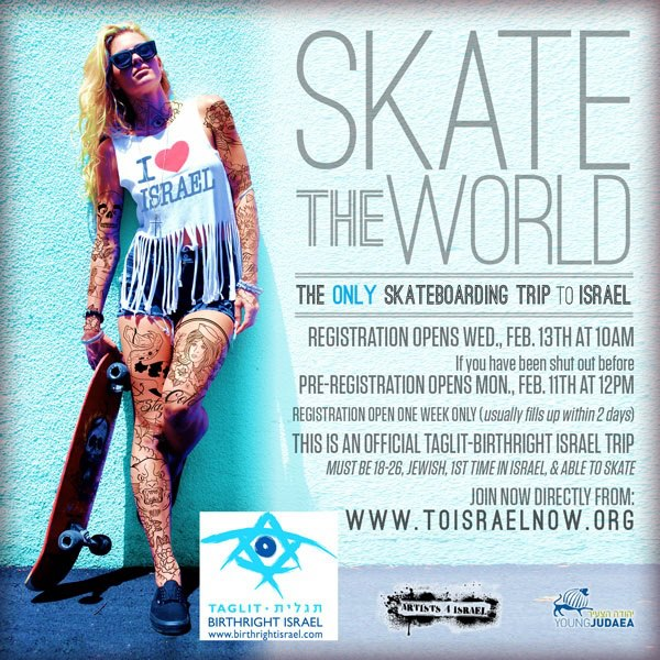 Birthright now offering skateboarding, hip hop-themed trips to Israel