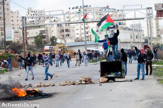 Clashes outside Ofer prison (Yotam Ronen / Activestills)