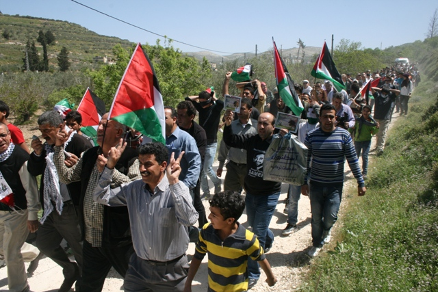 Palestinians are also commemorating Land Day against land grabs (Haggai Matar)